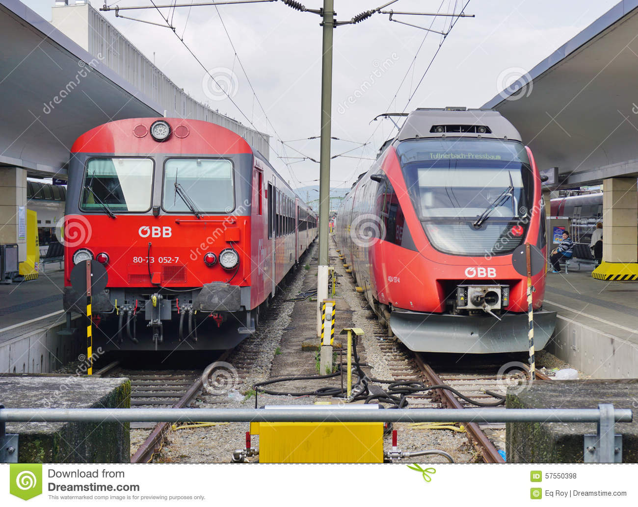 OBB Trains In Austria At The Station In Vienna Editorial Stock Photo - Image of station, european: 57550398