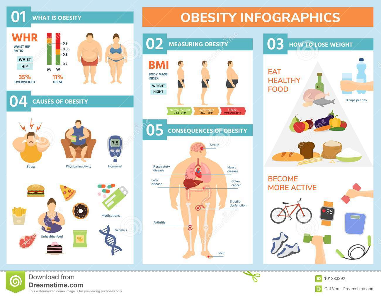 Obesity Weight Loss And Fat People Health Problems
