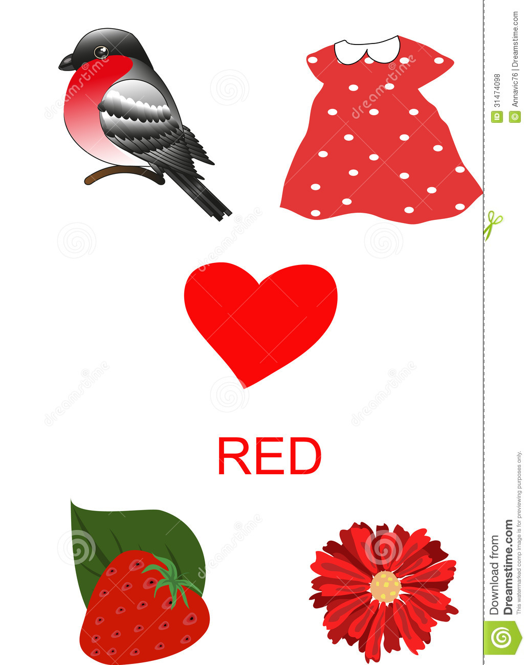 Objects Of Red Color Royalty Free Stock Photos