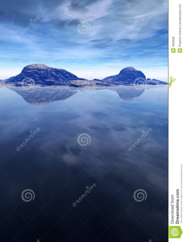 Ocean And Mountain Landscape Royalty Free Stock - 1869099