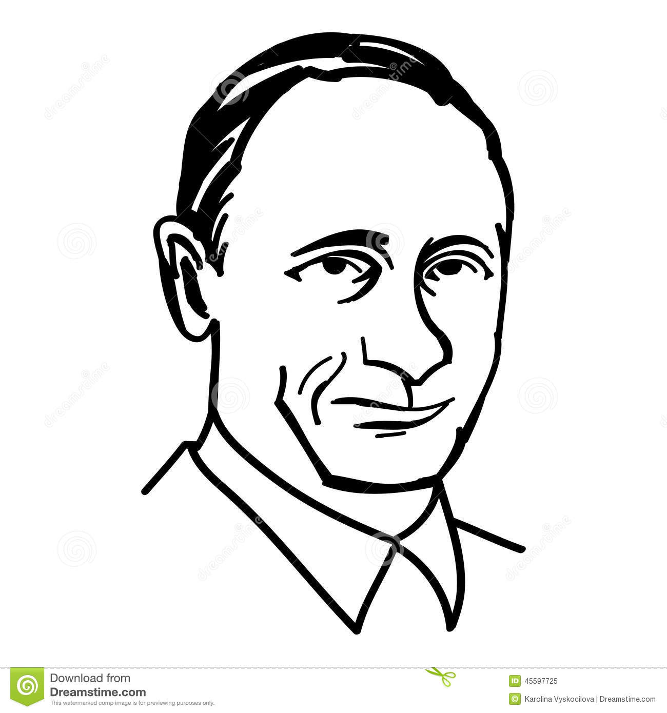 October 1 A Vector Black And White Illustration Of