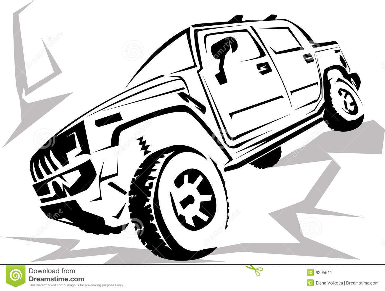 Off-road car stock vector. Image of black, special