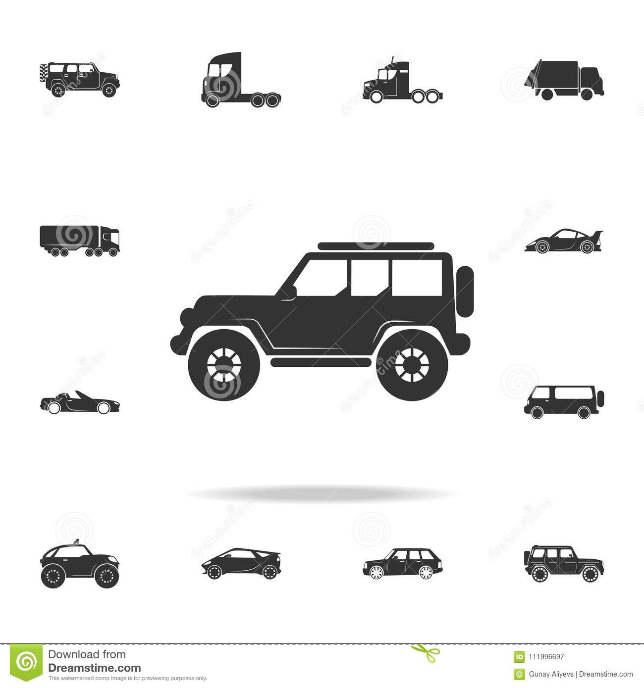 Off-road Car Icon. Detailed Set Of Transport Icons