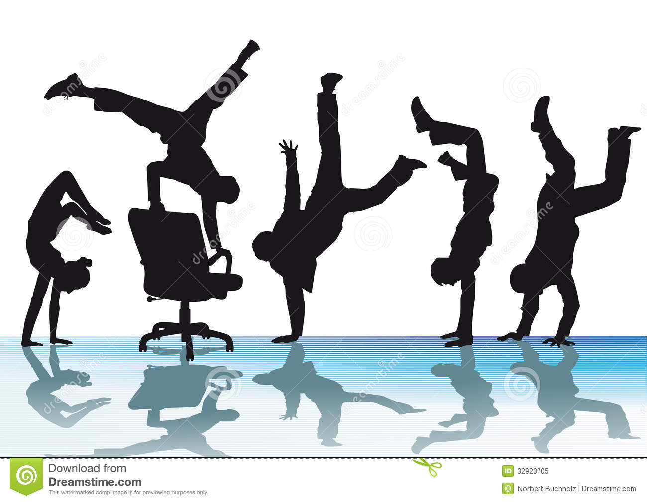 handstand chair rattan chairs office acrobatics stock vector image of success
