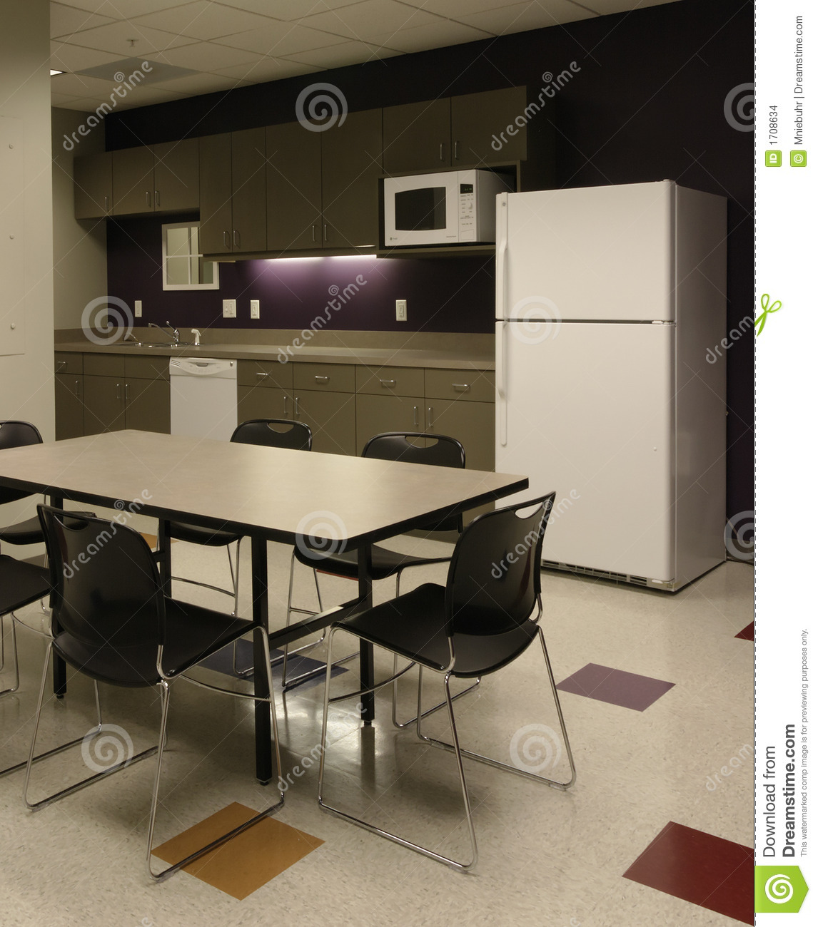 Break Room Chairs Office Break Room Cafe Employee Kitchen Space Stock