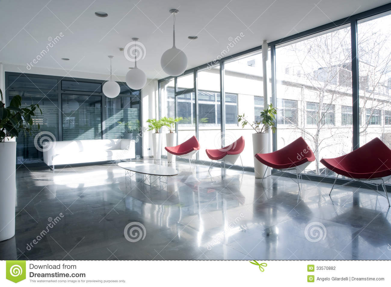 modern contemporary sofa images of table decorations office building hall stock photo. image ...