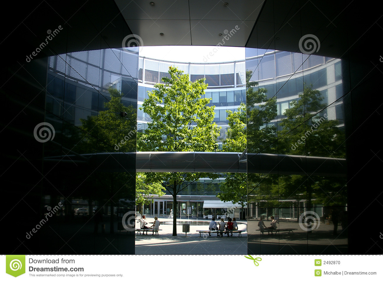 Office building patio stock photo Image of modern roof