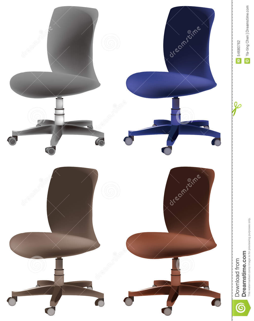 office chair illustration wayfair covers stock image 54680762
