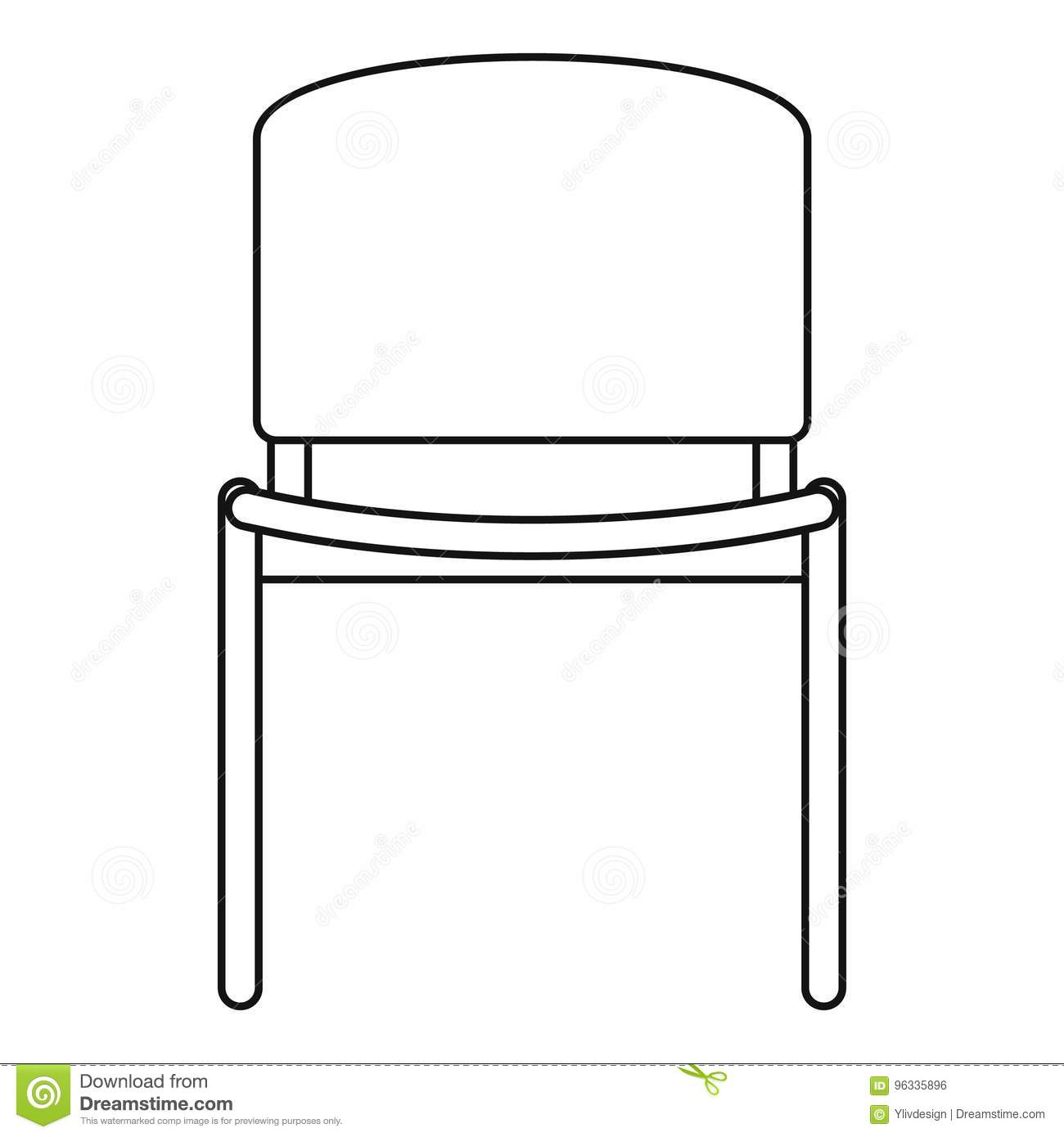 office chair vector high icon outline style stock