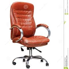 Office Chair Orange Luxor Spa The From Leather Isolated Stock