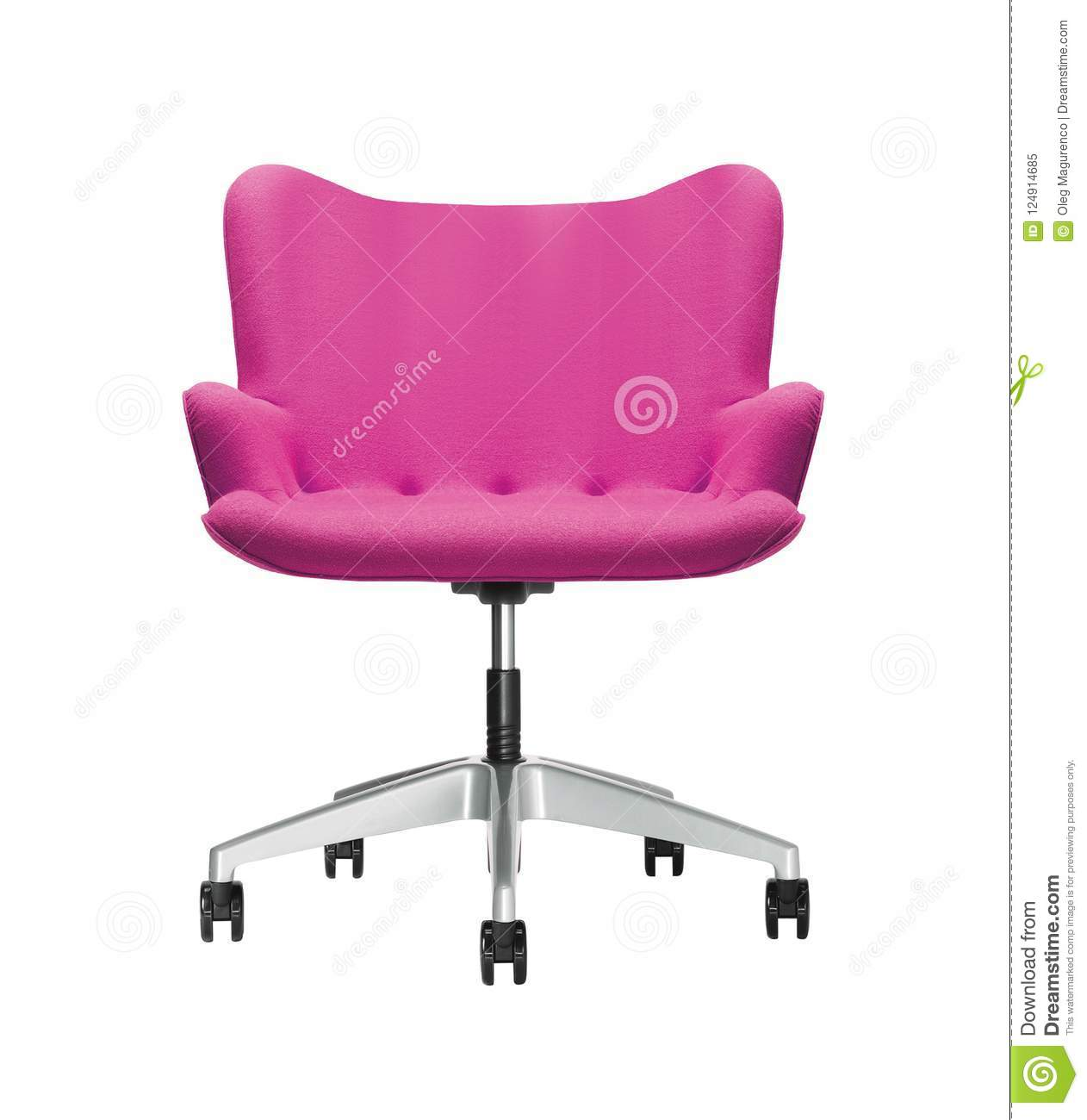 Pink Office Chairs The Office Chair From Pink Leather Isolated Stock Image Image Of