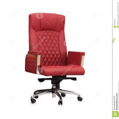 Office Chair Red Pub Table And Chairs The From Leather Isolated Stock Image