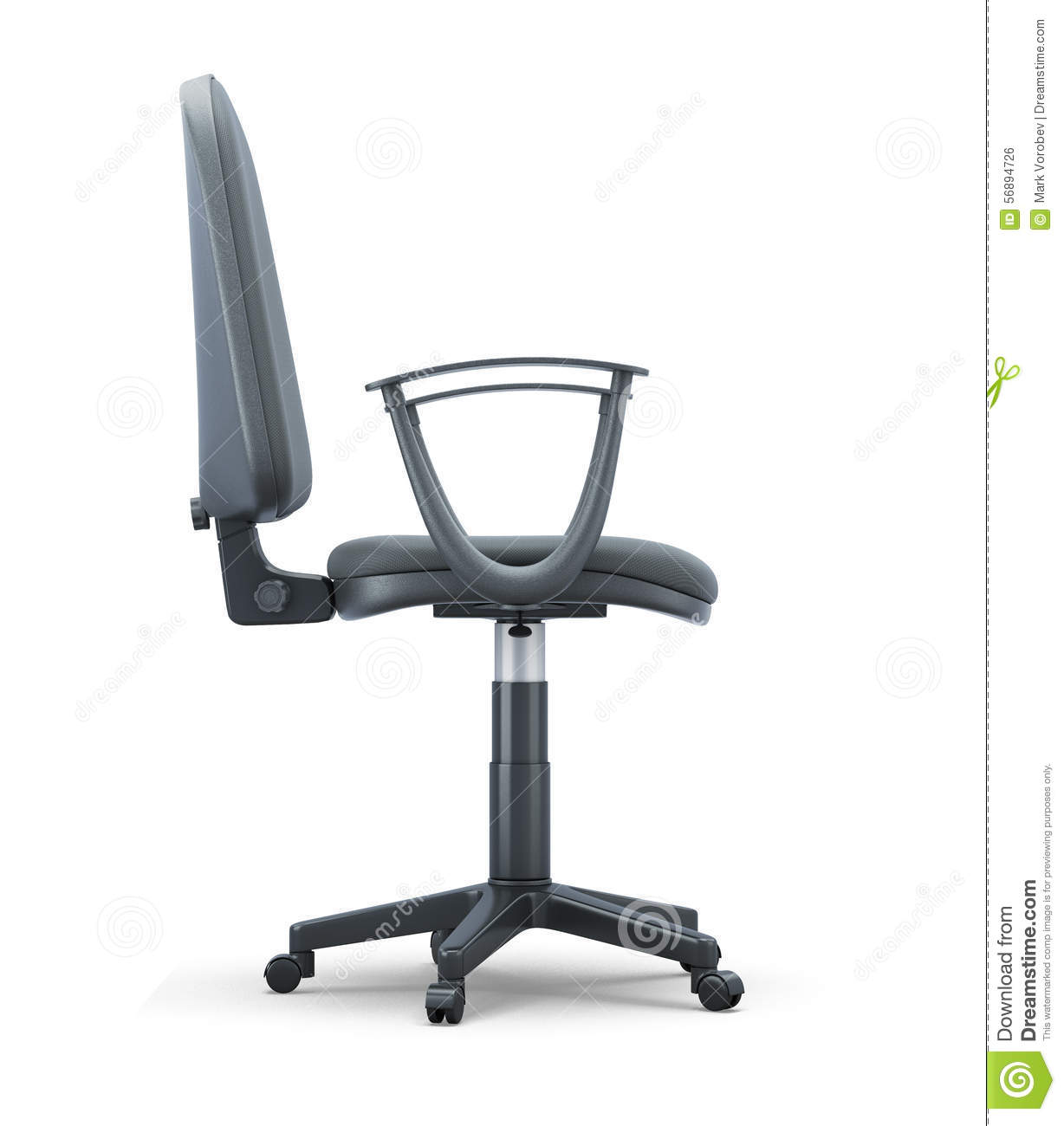 office chair illustration chiffon covers side view on a white stock isolated background 3d render image more similar illustrations