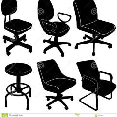 Office Chair Vector Swivel Club Chairs For Sale Silhouette Stock Photo Image 32226854