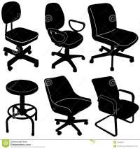 Office Chair Silhouette Vector Stock Photo - Image: 32226854