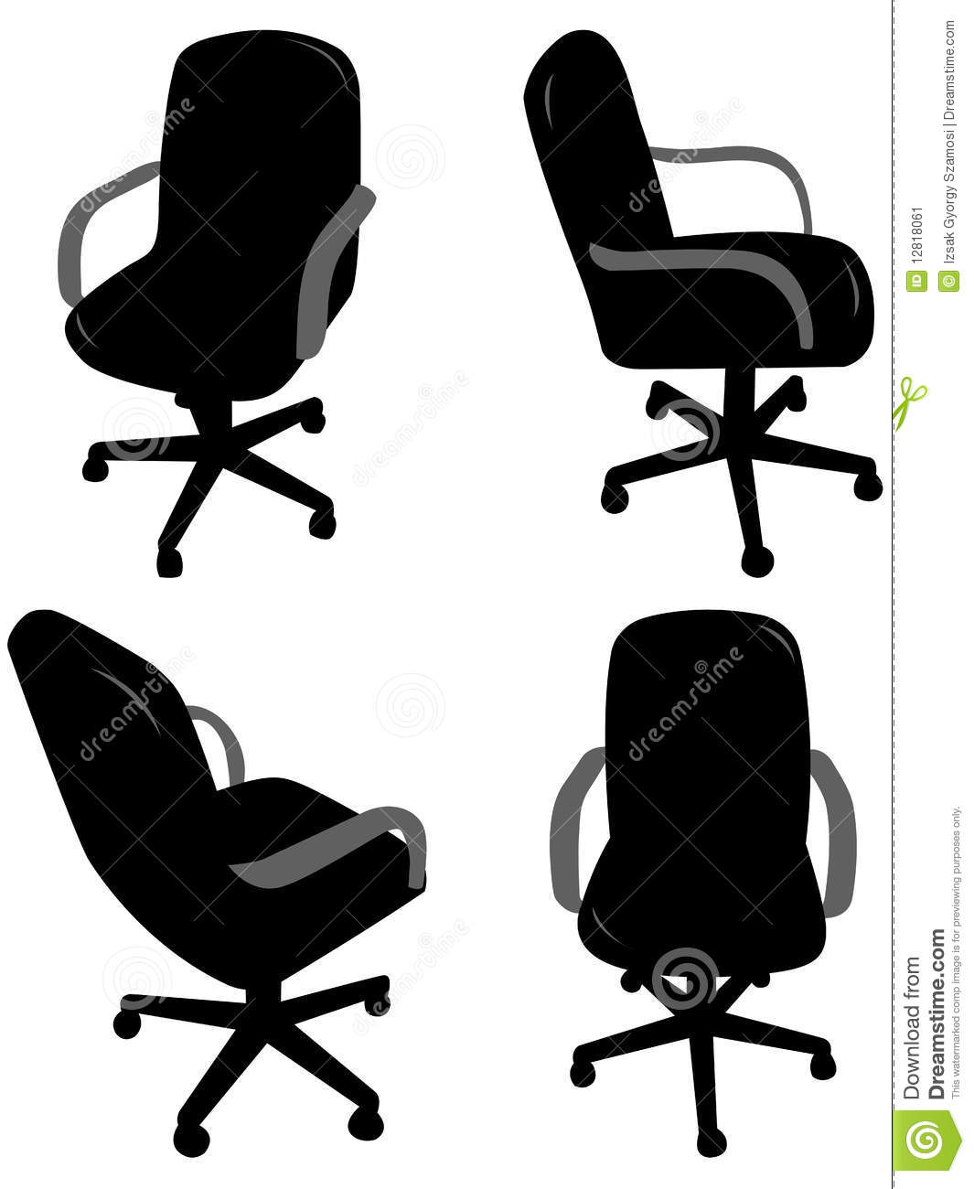 office chair illustration slipper chairs pier one silhouettes stock vector of 12818061