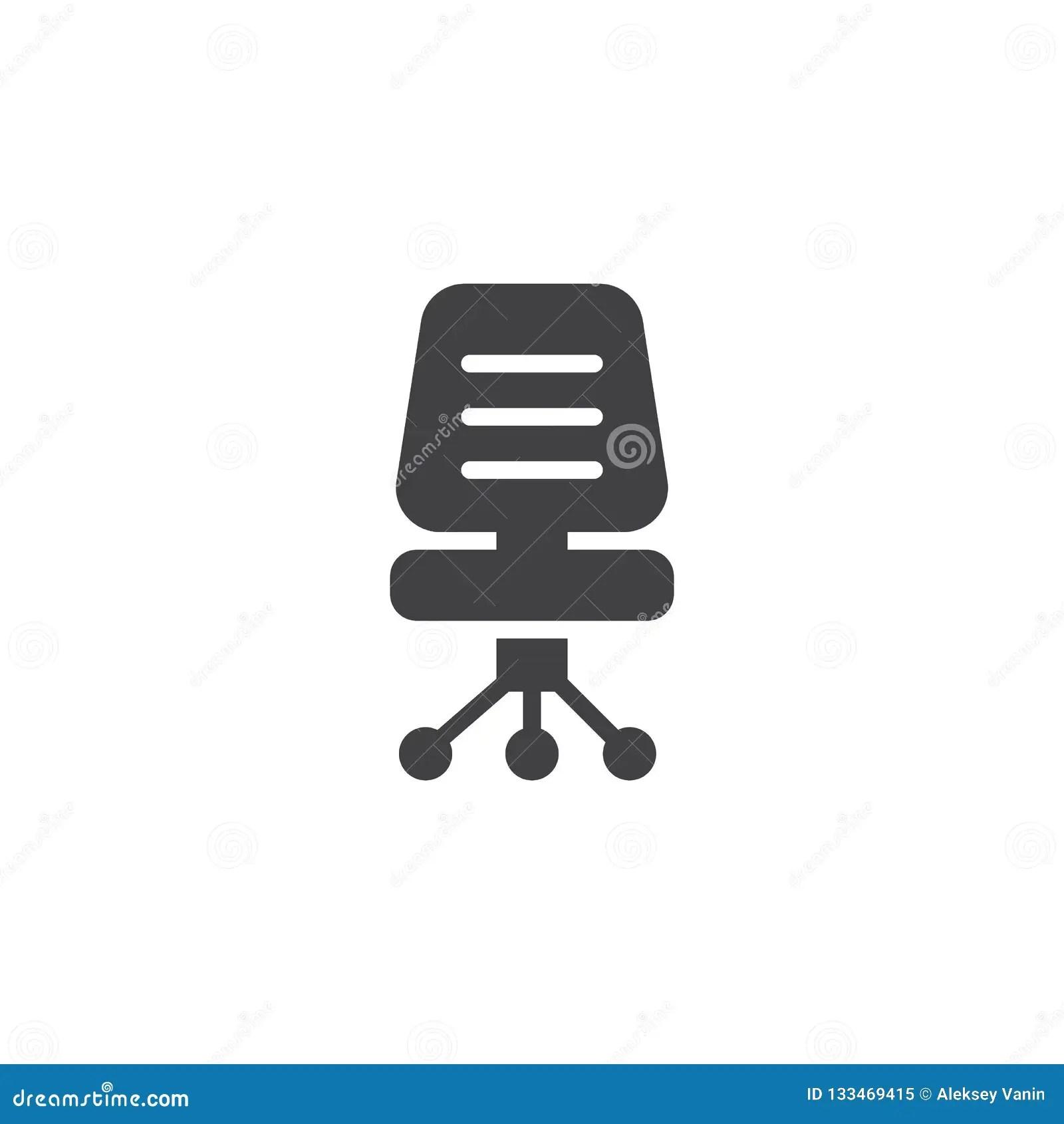 office chair vector umbrella holder for folding icon stock illustration of