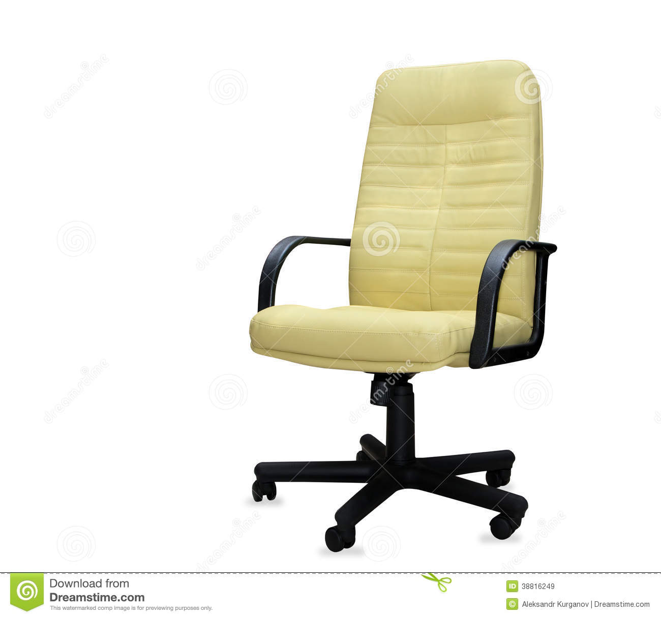 yellow office chair plastic cover patterns stock image cartoondealer 19776277