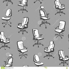 Ergonomic Chair Types How To Make Slip Covers For Folding Chairs Office Seamless Pattern Stock Vector Image 73006768