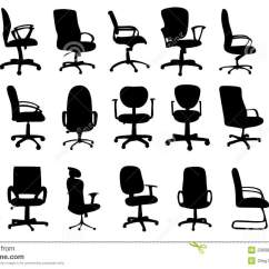 Office Chair Vector Folding Covers For Wedding Chairs Silhouettes Illustration Stock