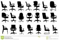 Office Chairs Silhouettes Vector Illustration Stock Vector ...