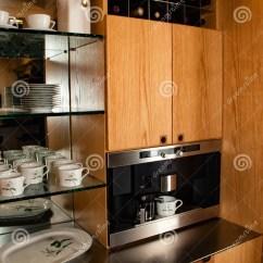 Kitchen Cabinet Plans European Design Office Coffee Beverage Center Stock Photo - Image: 62228109