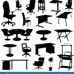 Office Chair Vector Rattan Hanging Egg Furniture Set Stock Illustration Of