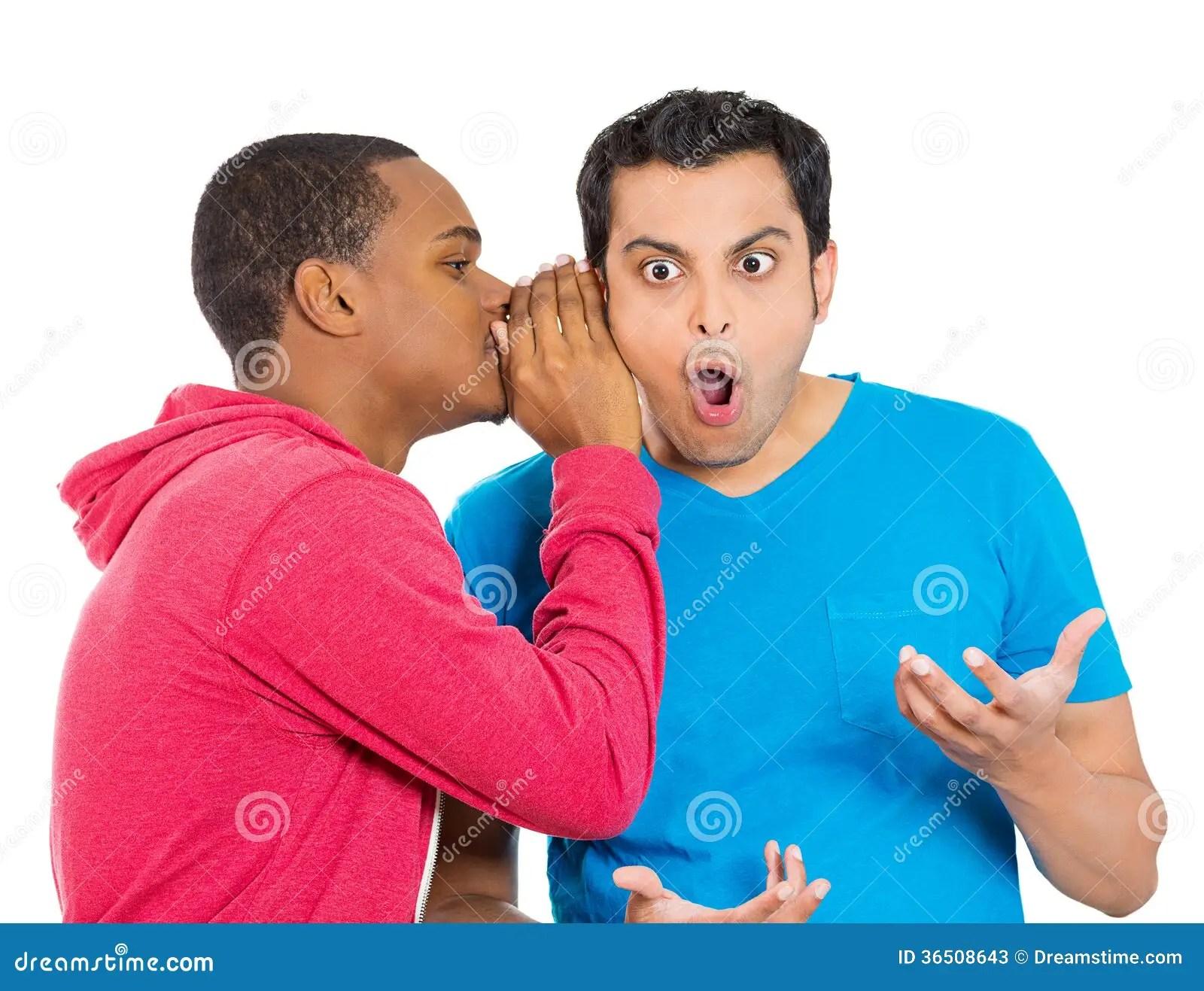 Office Gossip Rumors Surprised Guy Stock Photos Image
