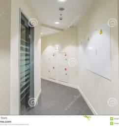 corridor with light colored walls glass dorr and fire box fuse box [ 1300 x 958 Pixel ]