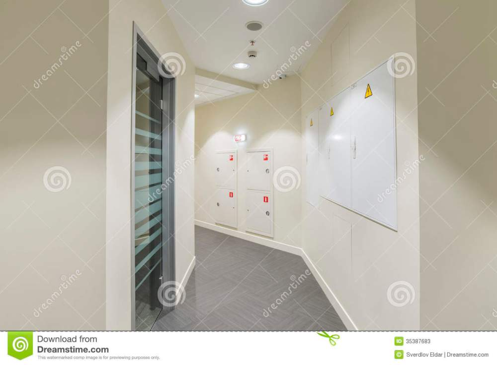 medium resolution of corridor with light colored walls glass dorr and fire box fuse box