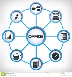 office network diagram stock illustration illustration of icons diagrams of office cabinets diagram of office [ 1300 x 1390 Pixel ]