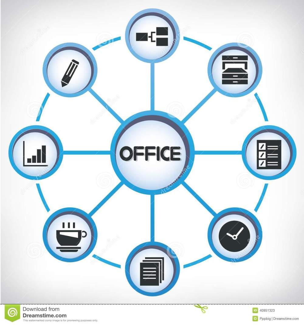 medium resolution of office network diagram stock illustration illustration of icons diagrams of office cabinets diagram of office