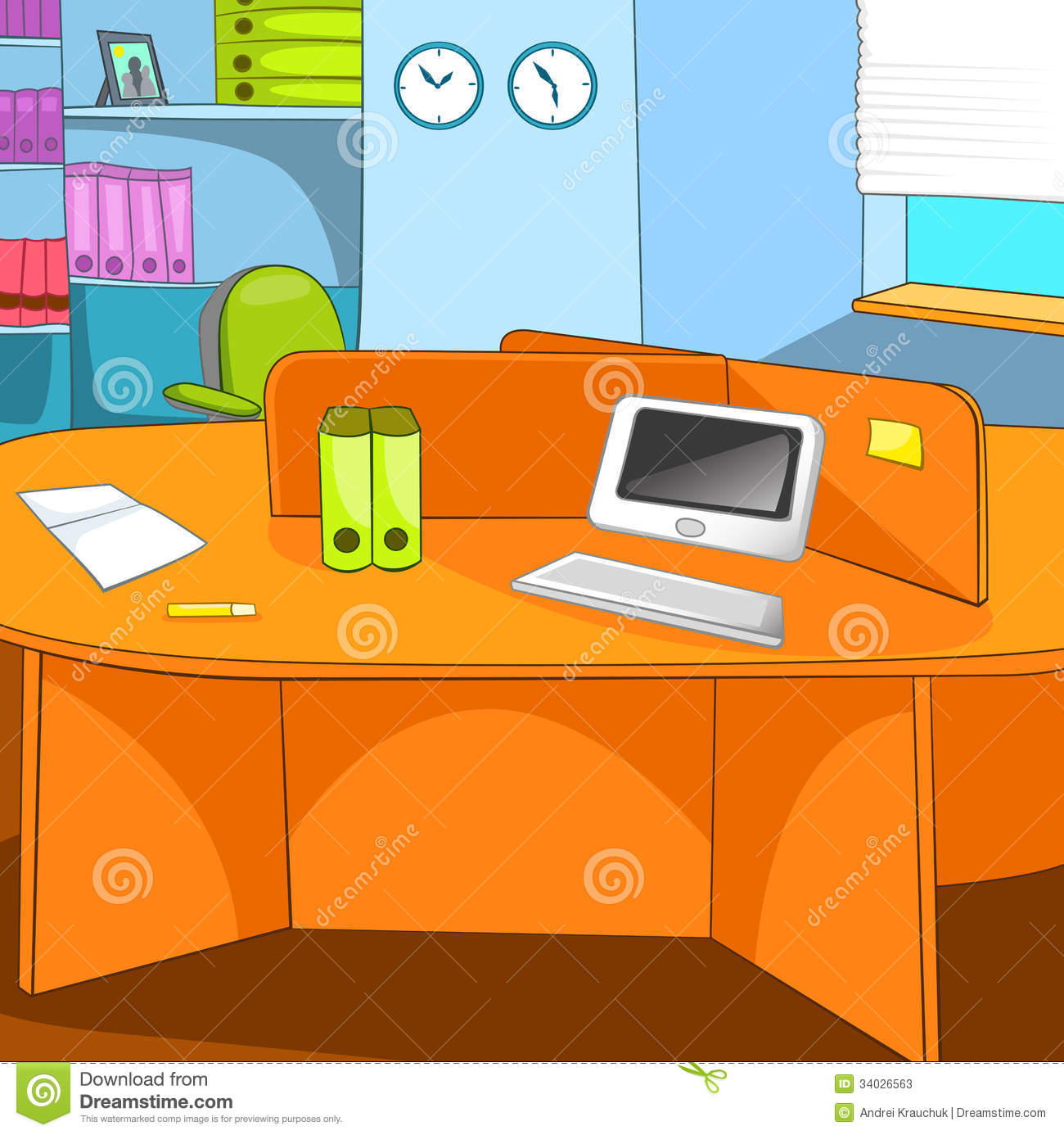 office chair illustration fancy dining chairs place stock vector. image of working, paper, display - 34026563