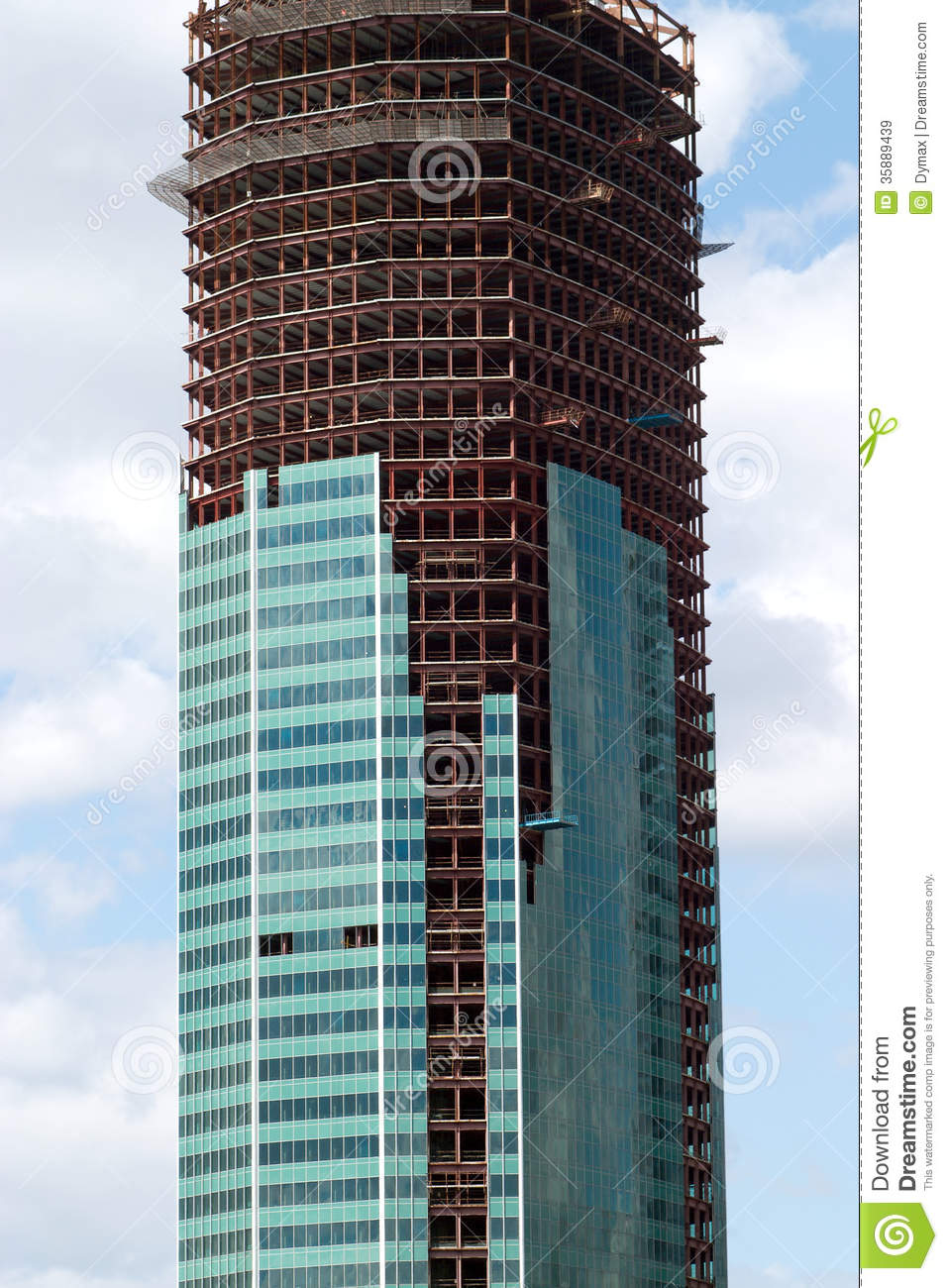 Office Skyscraper Construction Stock Image  Image 35889439