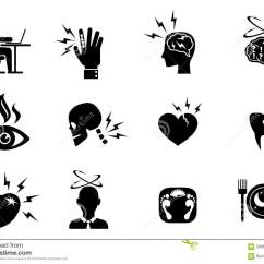 Office Chair Illustration Slipcover For And A Half T Cushion Syndrome Effects Icons Set Stock Vector - Image: 58863598
