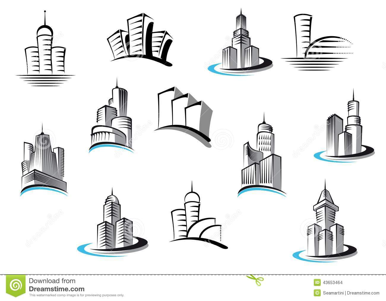 Office Telecommunication And Residential Stock Vector