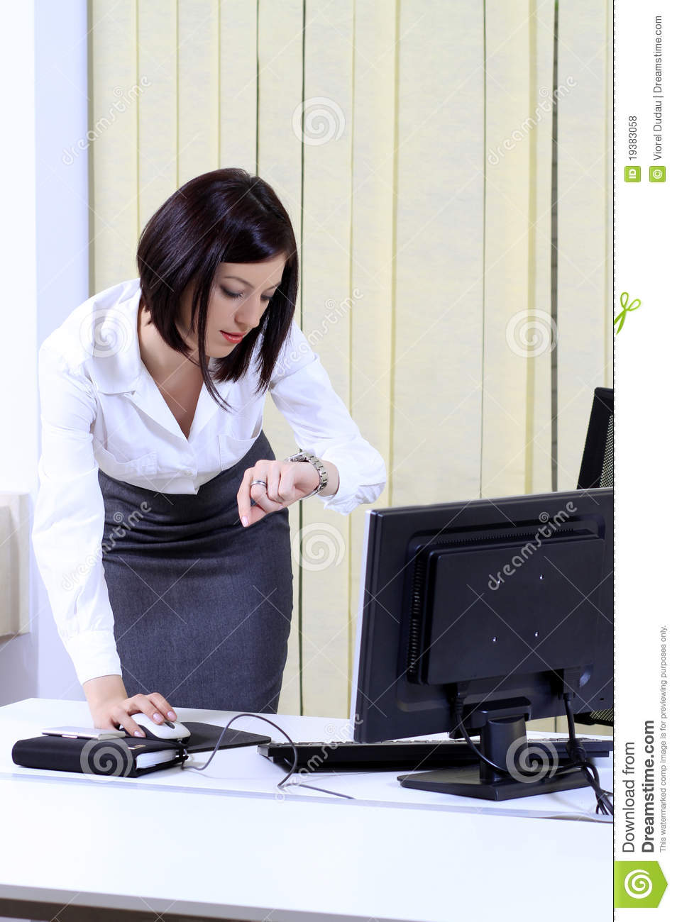 Office Woman In A Hurry Royalty Free Stock Photos  Image