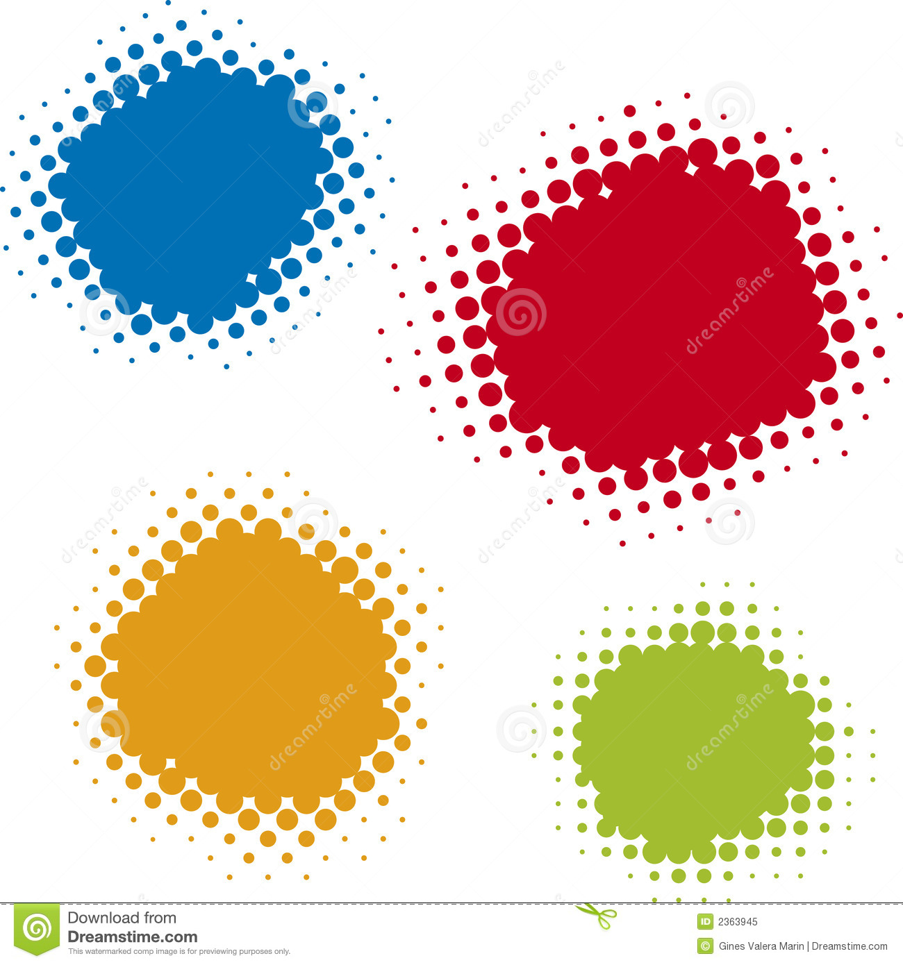 Offset Dots Vector Royalty Free Stock Photo Image 2363945