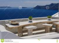 Oia Luxury Decks And Patios Royalty-Free Stock Photo ...