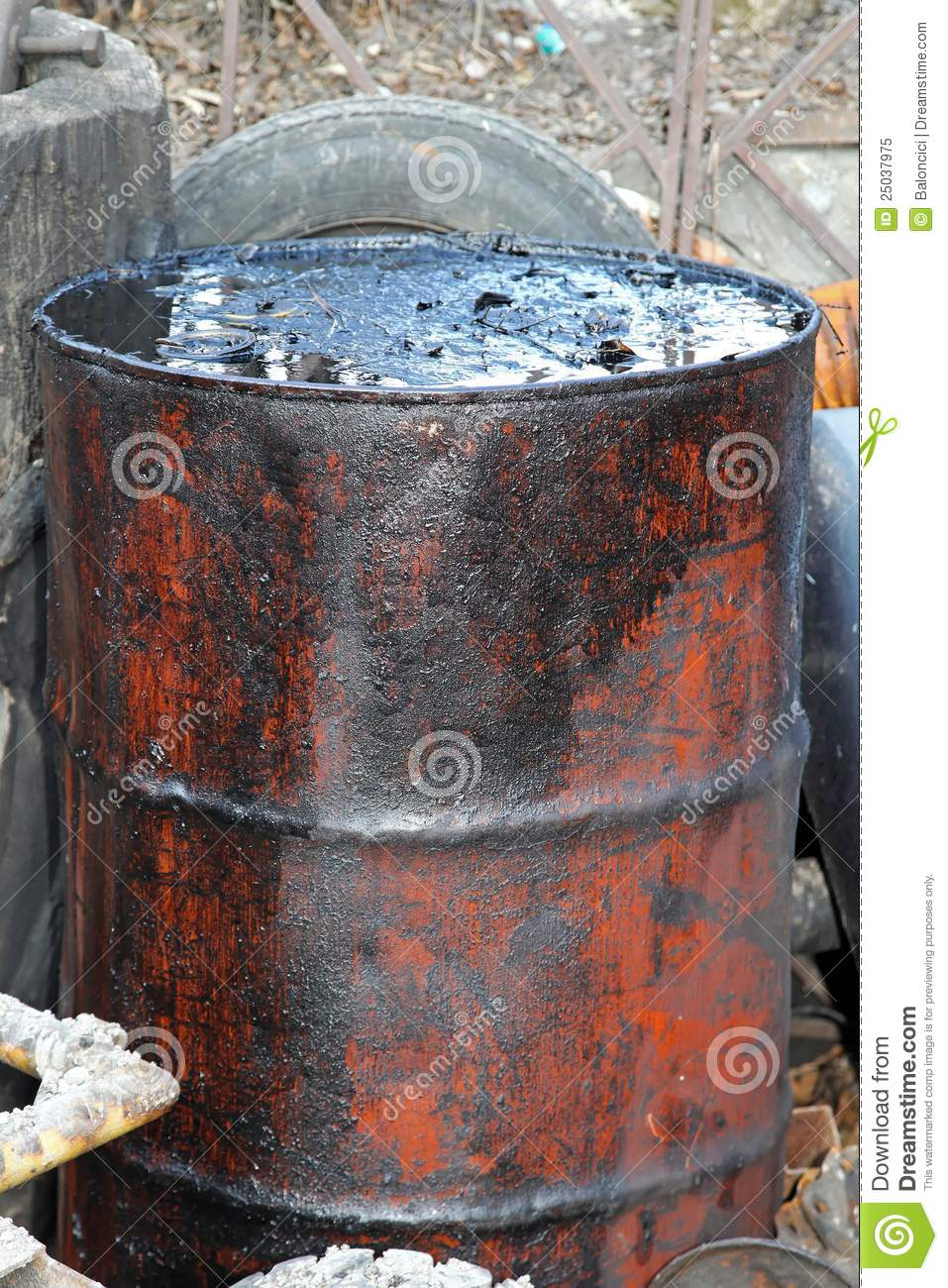 6 7 Diesel Fuel Filters Oil Barrel Stock Image Image Of Illegal Petrol Fuel
