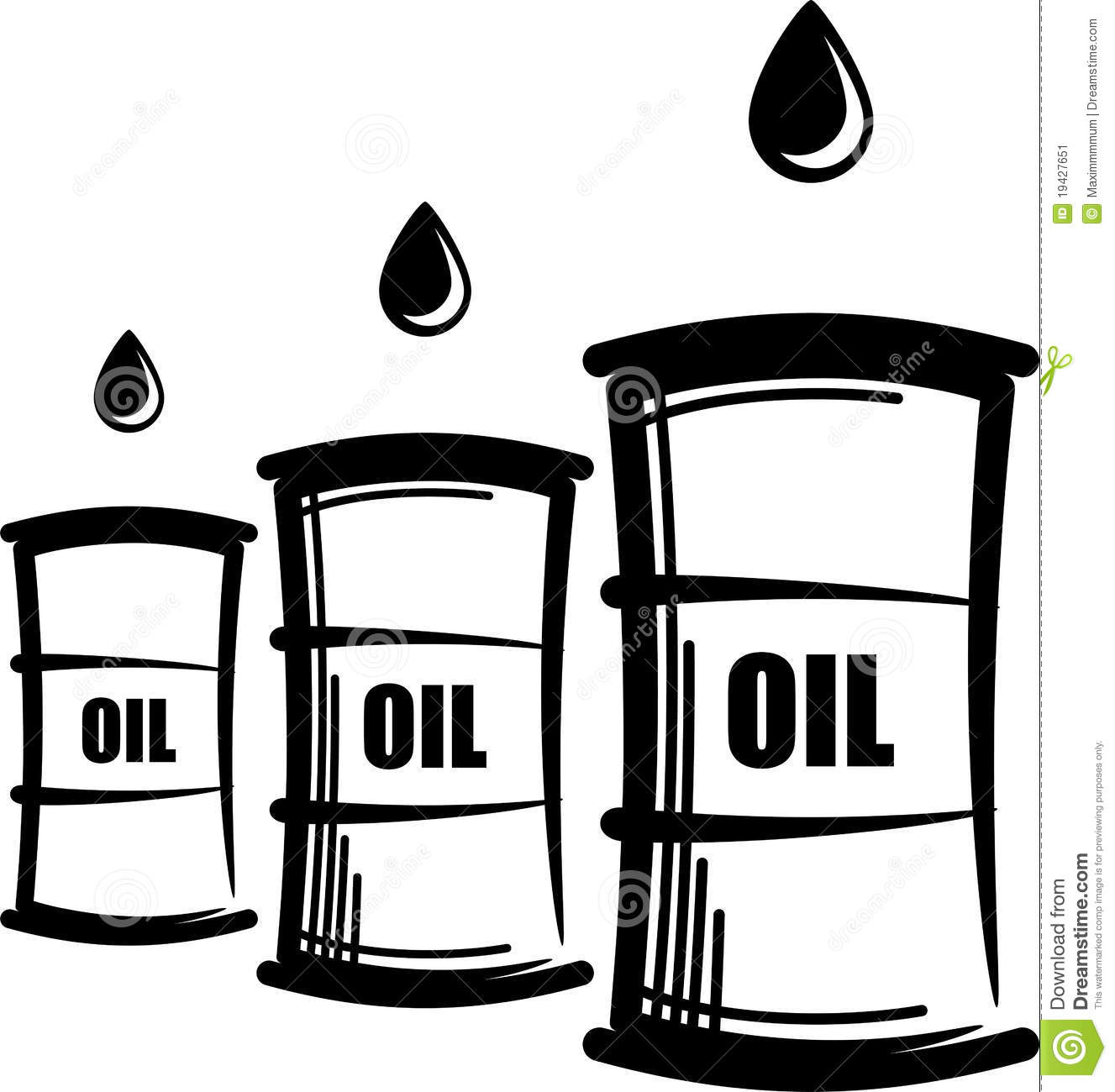 Oil Barrels Stock Vector Illustration Of Petroleum
