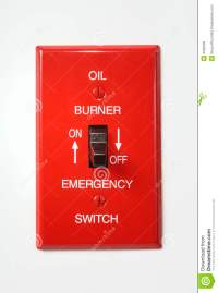 Oil Burner Emergency Switch Off Royalty Free Stock Images ...