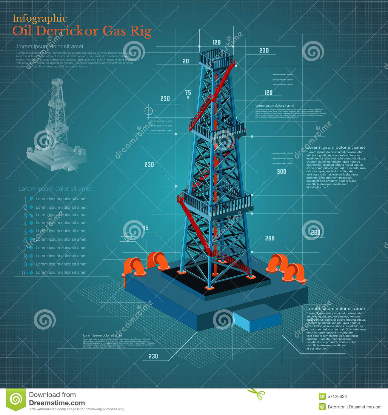 z rig diagram trailer brake wiring ford f250 oil derrick tower or gas infographic on blue scheme