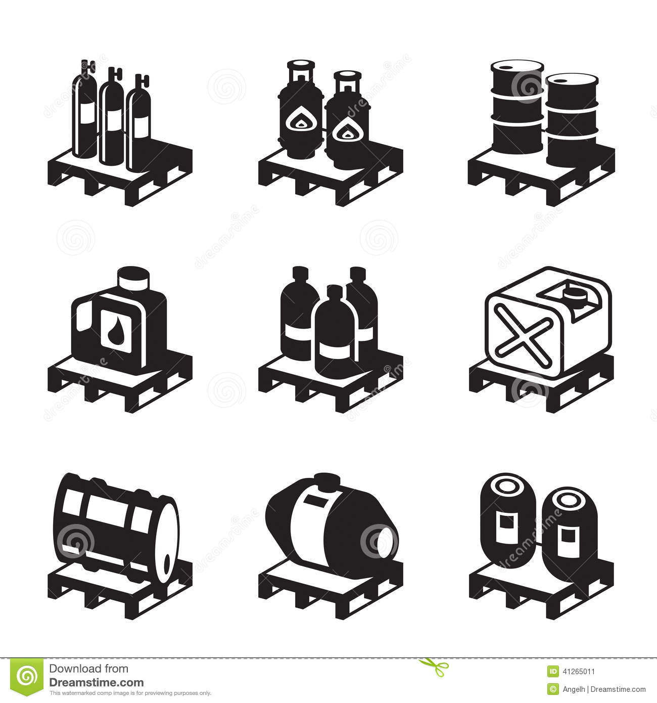 Oil Gas And Chemical Products Stock Vector