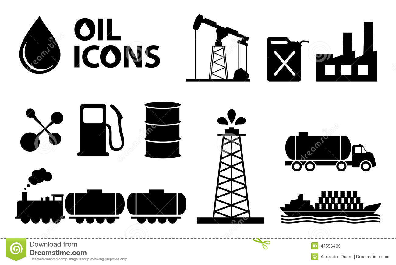 Oil Icons Stock Vector Illustration Of Barrel Industry