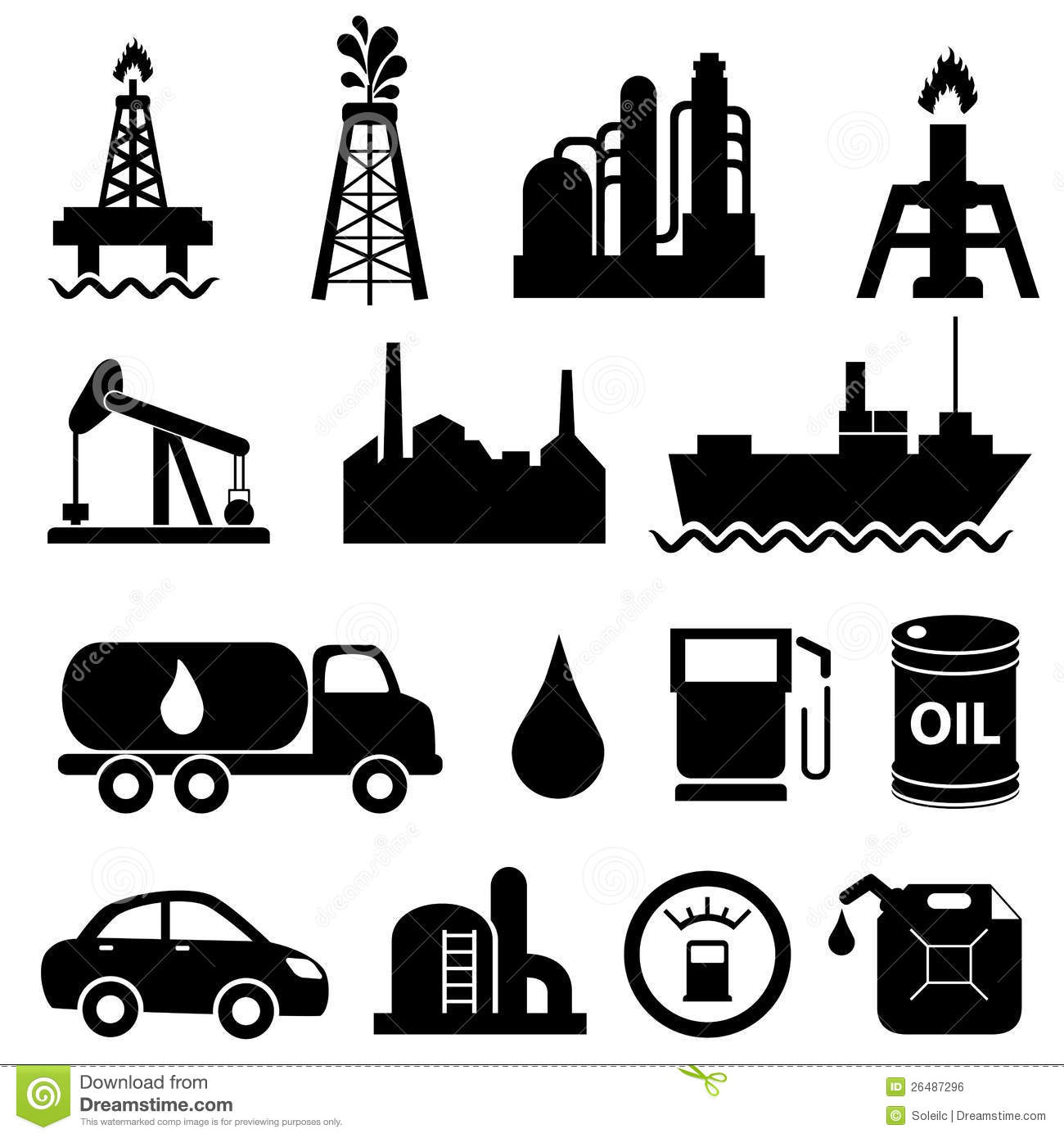 Oil Industry Icon Set Royalty Free Stock Image