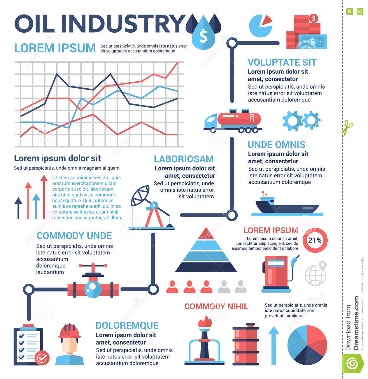 Oil Industry  Poster Brochure Cover Template Stock Vector  Image 78007410