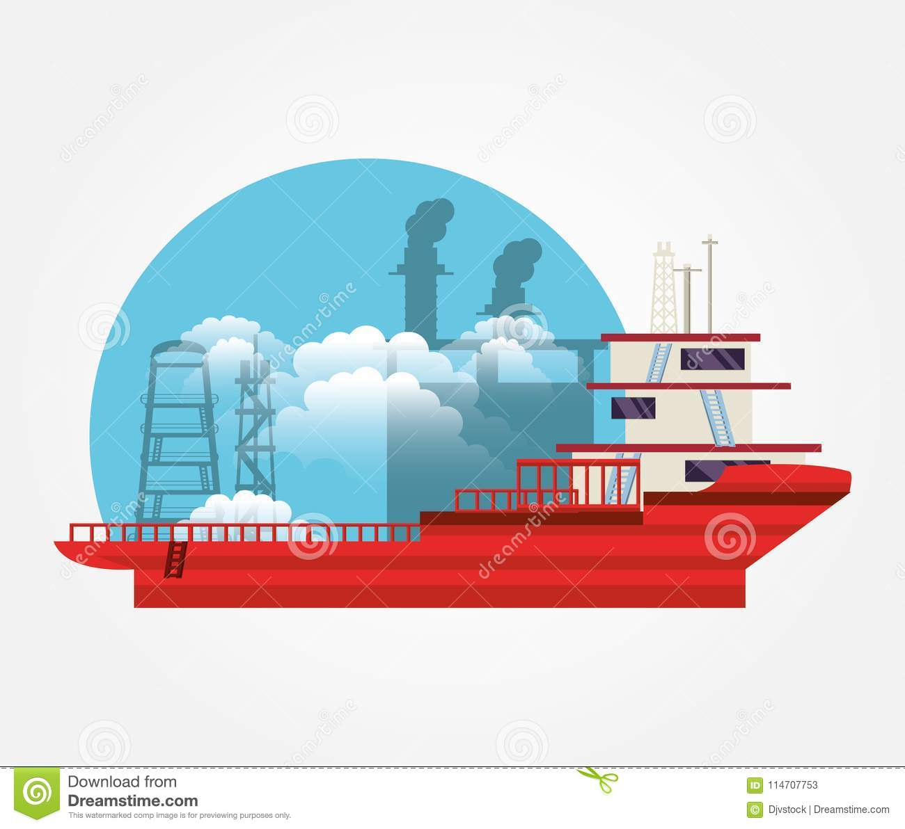 hight resolution of oil industry with ship freighter