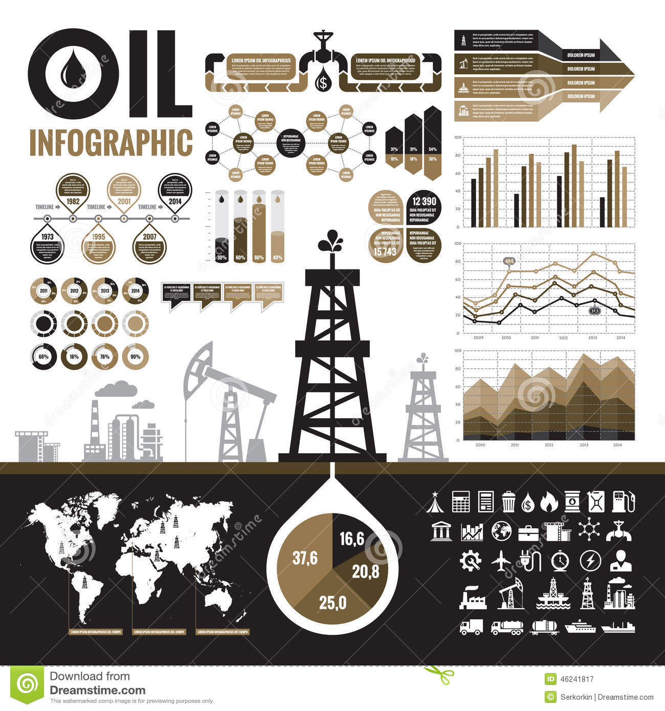 oil refinery layout diagram phone jack wiring nz industry vector infographic elements for