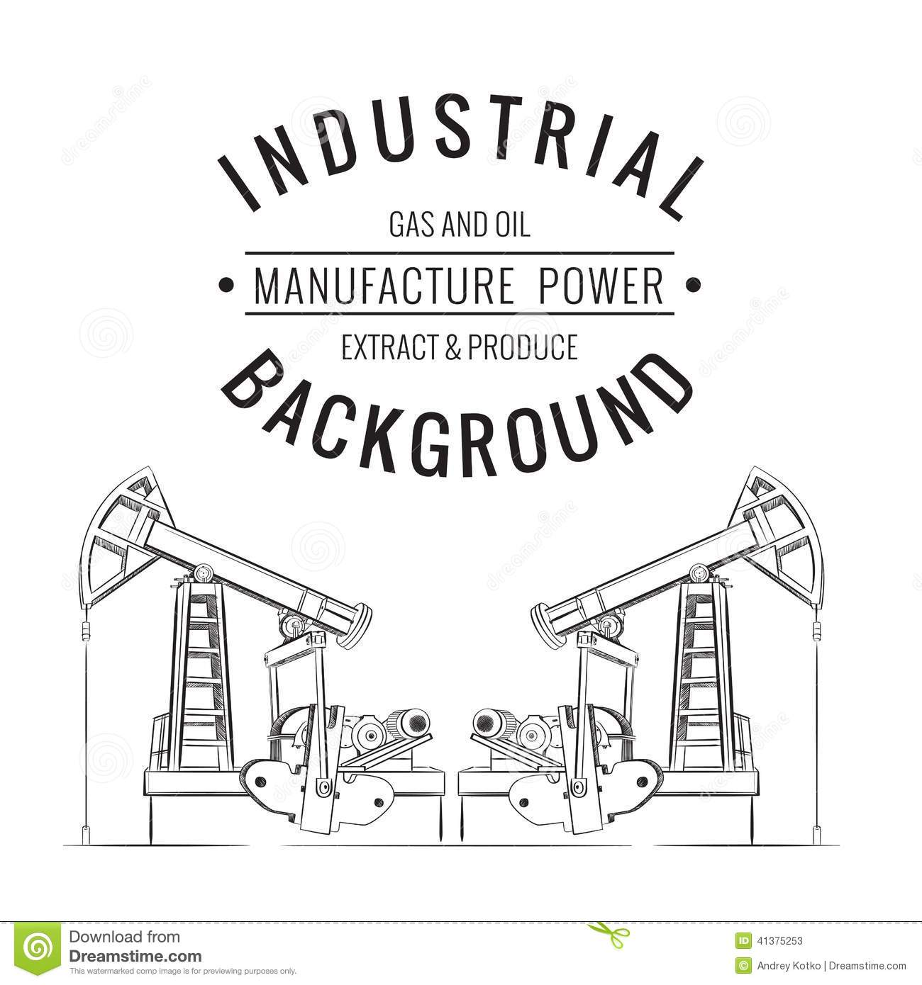 Oil Pump Isolated Stock Vector